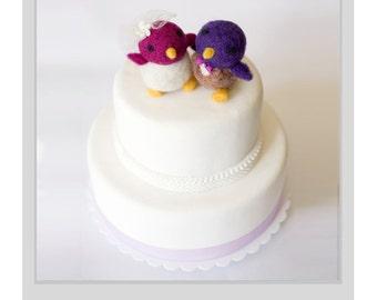Needle Felted Wedding Cake Topper