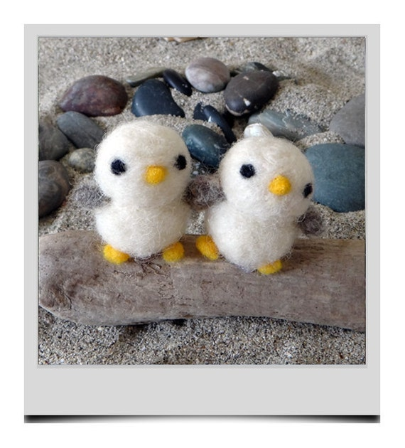 Hand Needle Felted Mini Seagulls