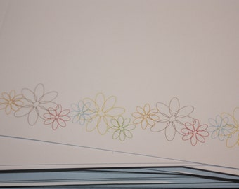 flowered blank note cards