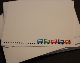 train blank note cards