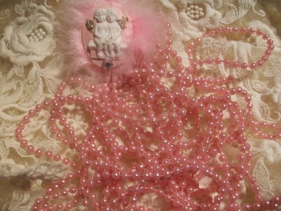 Pink   Pearls  Five  Yards