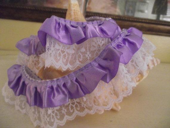 Lavender   Lace  Ruffle  Ribbon