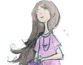Summer Joy Digitally Colorized Pencil Illustration