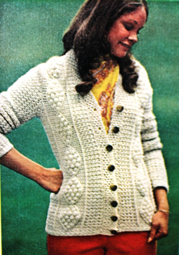 Crochet Pattern For Aran Fisherman Cardigan By Nonlethalforce