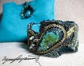 Bimini Brac Art Piece Bracelet / Cuff created by Lynn Parpard/Turquoise One Of A Kind Art Piece