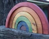 Wooden Rainbows for Mel (custom listing for 3 Rainbows)