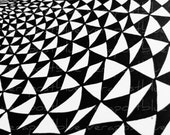 Digital sheet black and white triangles - abstract optical art - Download and print