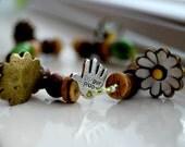 Spring Daisy- Bead Bracelet