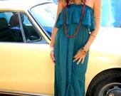 Maxi Strapless Athena Dress and Skirt In Teal, Bohemian Princess, gypsy, hippie dress, feminine, sexy, romantic dress