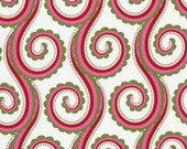 Large Curly Swirl in Santa, Christmas by Pillow & Maxfield, Michael Miller fabric, 1 yard