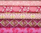 Poetica, Pink Fabric Bundle, Patricia Bravo for Art Gallery Fabrics, 4 Fat Quarters (1 Yard)