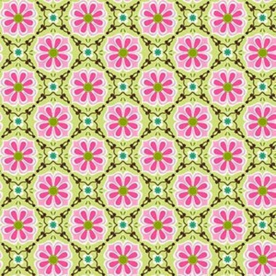 Floral Medallion in Pink, Bella Flora by Studio E, 1 yard