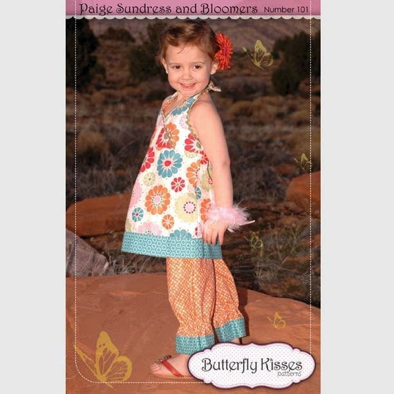 Sewing Pattern Paige Sundress and Bloomers Butterfly Kisses for Riley Blake FREE SHIPPING with another item