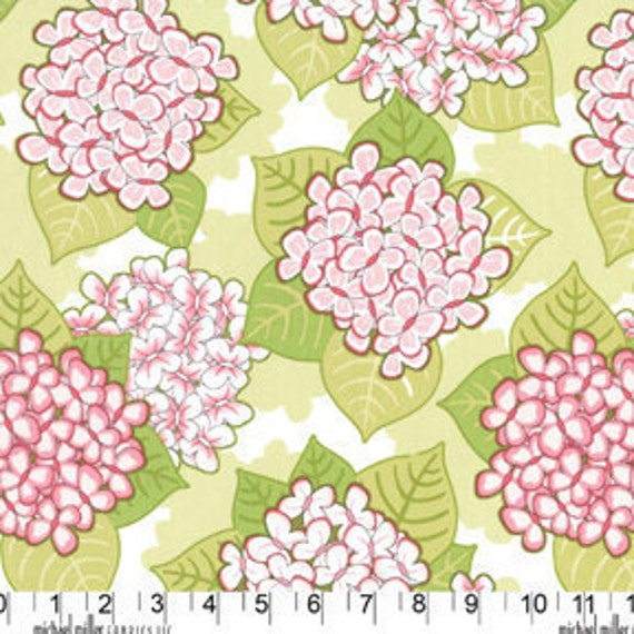 Fabric by the yard Michael Miller Patty Sloniger Bella Butterfly Blooming Butterflies in Green 1 yard