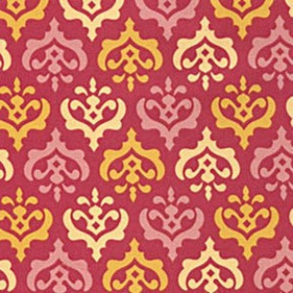 SALE Fabric for quilt or craft Heather Bailey Freshcut 2011 Crest in Red Free Spirit Fabrics Fat Quarter