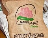 burlap coffee bag panels
