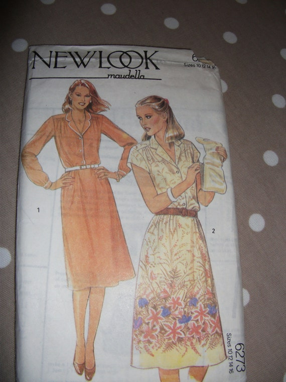 Vintage 1970s New Look dress pattern size 10 to 16 no 6273