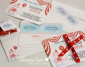 Carnival Birthday Invitations - Customized Printable File for Girls Pink Circus Party Theme