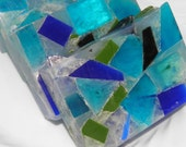 Handmade Ocean Rain Sea Glass Glycerin Soap