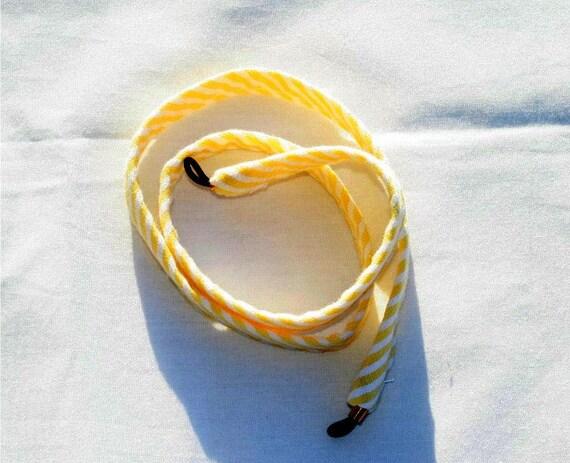 Yellow Stripe Seersucker Sunglass Croakies