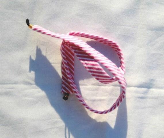 Red Stripe Seersucker Sunglass Croakies