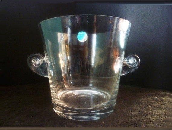 Tiffany Crystal Ice Bucket Or Champagne Wine Cooler Vintage