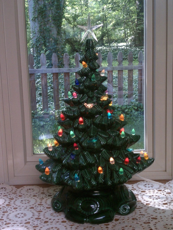 Large Ceramic Lighted Christmas Tree Atlantic By