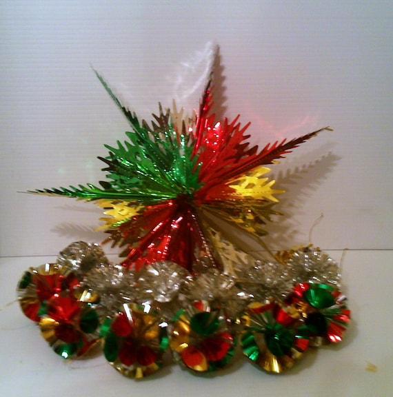 Vintage aluminum tin foil christmas ornament by wildforvintage