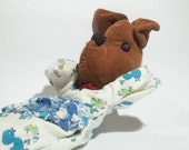 Cute  vintage DOG puppet , his name is Misha . Use him for assemblage, mixed media or to keep company.