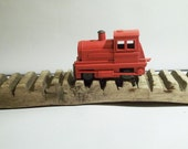 VINTAGE Soviet Train. Use for mixed media art, photography projects, assemblage, etc.