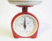 VINTAGE red SCALE, use for home decor, assemblage, mixed media...