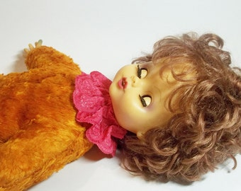 Vintage baby DOLL, her name is Sasha. Use her for mixed media art, shadow boxes, photography projects,home decor.