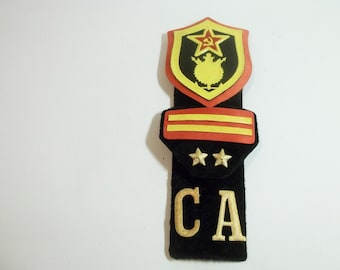 Soviet military patches, use for mixed media art, dolls, shadow boxes, scrapbooking,steampunk  jewelry.