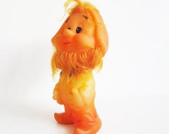 Cute RUBBER TOY, his name is Ivan. Use him for mixed media art, shadow boxes, or home decor...