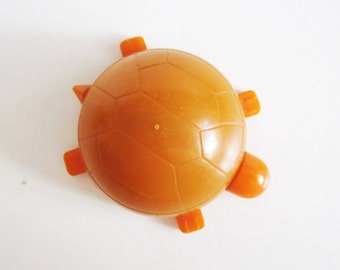 CUTE VINTAGE  turtle toy pencil sharpener. Use him for home decor, keep company or collect