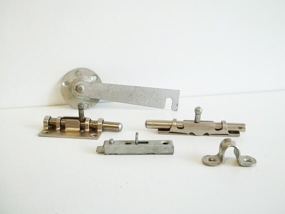 Vintage LOCKS and a hinge, use for mixed media art, ASSEMBLAGE,altered books to lock, steampunk JEWELRY