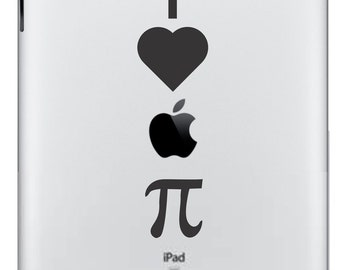 I Love Apple Pie  iPad/iPad 2 Vinyl Decal  FREE SHIPPING