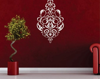 Large, Damask Wall Decals, Removable, Damask Vinyl Sticker