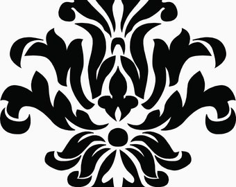 Damask Vinyl Decal
