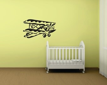 Large Airplane  Removable Vinyl Decal  FREE SHIPPING