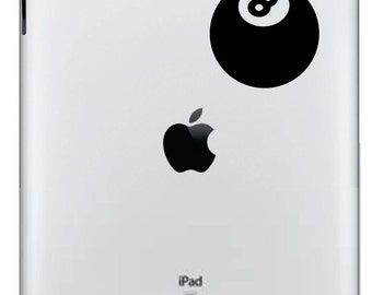 Eight Ball Ipad Decal FREE SHIPPING