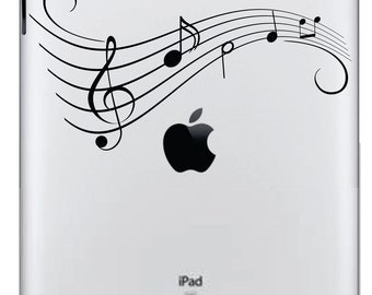 Music notes Ipad Decal FREE SHIPPING