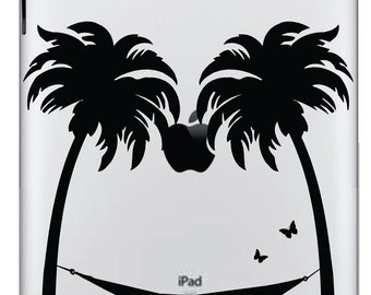 Palm Trees with Hammock Ipad Decal FREE SHIPPING