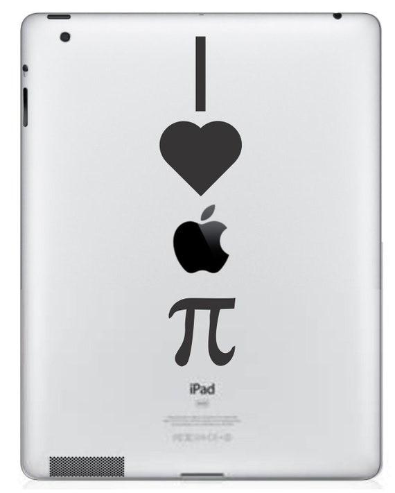 I Love Apple Pie  iPad/iPad 2 Vinyl Decal  FREE SHIPPING