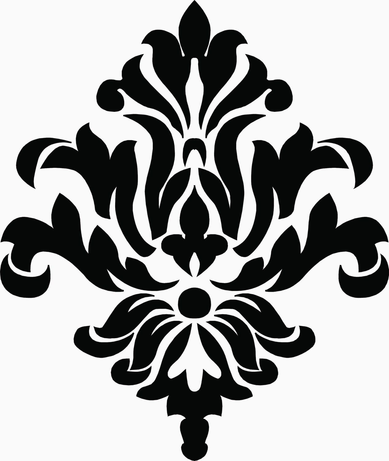 Cake Stencil Designs Free : Damask Vinyl Decal