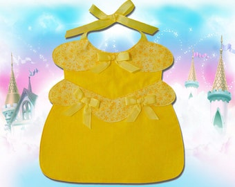 Gold Princess Toddler Bib - PDF Pattern