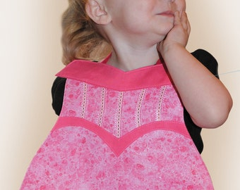 Pink Princess Toddler Bib - PDF Pattern