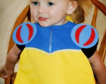 Puff Sleeve Princess Toddler Bib - PDF Pattern