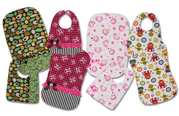 BASIC to BLING Bibs and Burp Cloths - Downloadable PDF Pattern