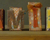 """Altered Distressed Word Blocks """"Family"""""""